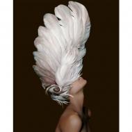 Картина по номерам BrushMe 40*50см Женщина в перьях (PGX35262)