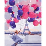 Картина по номерам BrushMe 40*50см Париж в шарах (GX25399)