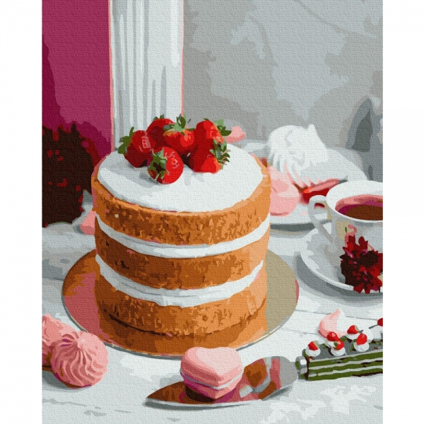 Картина по номерам BrushMe 40*50см Ягодный десерт (GX37548)