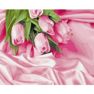 Картина по номерам BrushMe 40*50см Тюльпаны в шелке (GX34760)