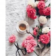 Картина по номерам BrushMe 40*50см Цветочный кофе (GX34841)