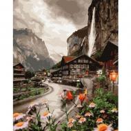 Картина по номерам BrushMe 40*50см Городок в Швейцарии (GX36527)