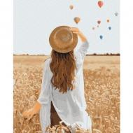 Картина по номерам BrushMe 40*50см Путешественница в ржаном поле (GX37564)