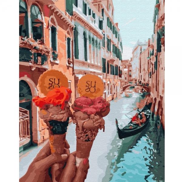 Картина по номерам BrushMe 40*50см Джелато в Венеции (GX34170)