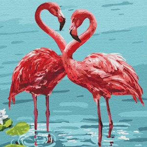 Картина по номерам BrushMe 40*50см Яркие фламинго (GX32419)