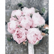 Картина по номерам BrushMe 40*50см Пионы для невесты (GX37530)