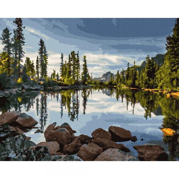 Картина по номерам BrushMe 40*50см Живописное озеро (GX36126)