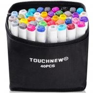 Набор маркеров двусторонних TouchNew 40 цветов