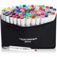 Набор маркеров двусторонних TouchNew 80 цветов
