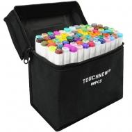 Набор маркеров двусторонних TouchNew 60 цветов
