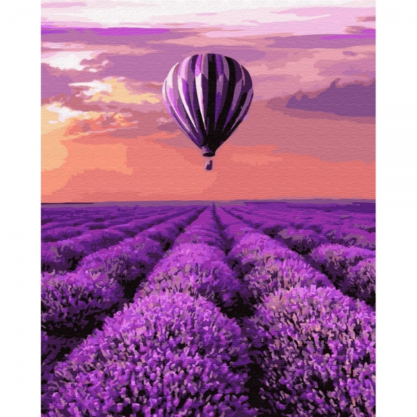 Картина по номерам BrushMe 40*50см Воздушный шар в Провансе (GX32305)