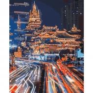 Картина по номерам Идейка 40х50см Ночной Шанхай 2 (КНО3543)