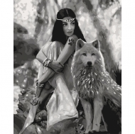 Картина по номерам Идейка 40х50см Волчиця (КНО4139)