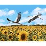Картина по номерам Идейка 40х50см Журавли в небе (КНО4182)