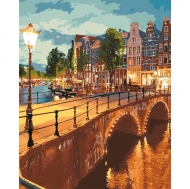Картина по номерам Идейка 40х50см Вечернее город (КНО3578)