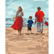 Картина по номерам Идейка 40х50см Семейный отдых (КНО4679)