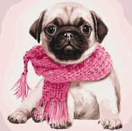 Картина по номерам Идейка 40х40см Розовое настроение (КНО4107)