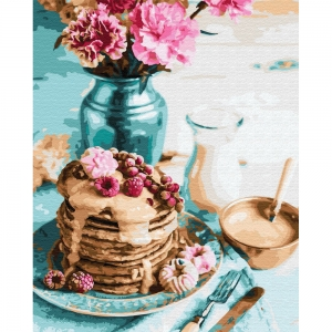 Картина по номерам BrushMe 40*50см Панкейки на завтрак (GX34848)