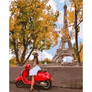 """Картина по номерам Идейка 40х50см """"Впервые в Париже"""""""