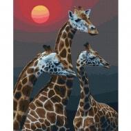 Картина по номерам BrushMe 40*50см Жирафы под солнцем (GX36015)
