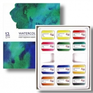 Набор акварельных красок ROSA Studio кювета 12 цв