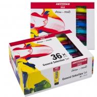 Набор акриловых красок AMSTERDAM GENERAL SELECTION 36 цветов 20 мл тубы в картоне (17820437)