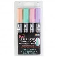 Набор меловых маркеров Marvy 4 шт Пастельные оттенки (480-4P)