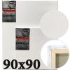 Холст на подрамнике Monet итальянский хлопок среднее зерно 90*90 см (MN9090)