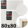 Холст на подрамнике Monet итальянский хлопок среднее зерно 80*80 см (MN8080)