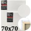 Холст на подрамнике Monet итальянский хлопок среднее зерно 70*70 см (MN7070)