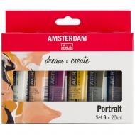 Набор акриловых красок AMSTERDAM PORTRAIT 6*20 мл тубы