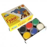 Набор гуашевых красок Любимые игрушки 6 цв (10мл) Гамма