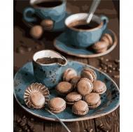 Картина по номерам Идейка 40х50см Макаруны к кофе (КНО5550)