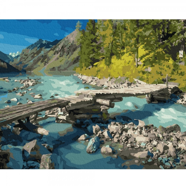 Картина по номерам BrushMe 40*50см Горный мостик (GX36518)