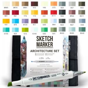 Набор маркеров SKETCHMARKER Архитектура 36 цветов