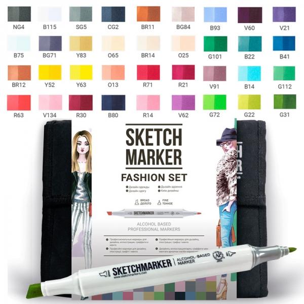 Набор маркеров SKETCHMARKER Fashion set 36 цветов