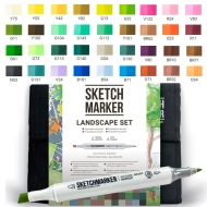 Набор маркеров SKETCHMARKER Ландшафтный дизайн 36 цветов