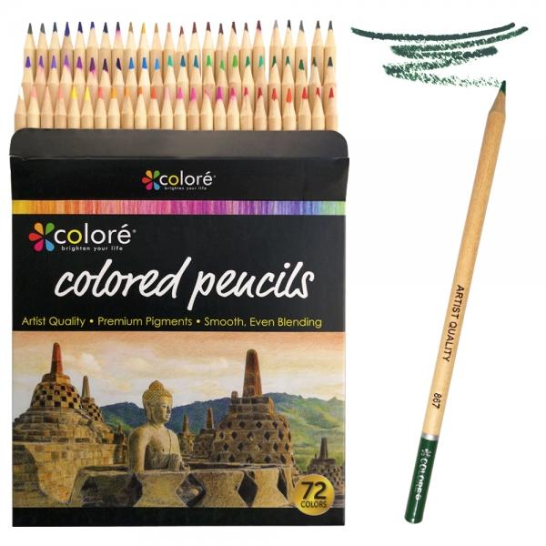 Набор цветных карандашей профессиональных Colore 72 цвета