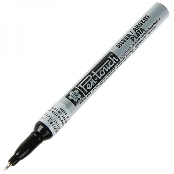 Маркер Pen-Touch Серебро тонкий (EXTRA FINE) 0.7мм Sakura