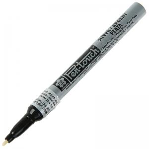 Маркер Pen-Touch Серебро тонкий (FINE) 1мм Sakura