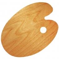 Палитра деревянная, овальная, промасленная