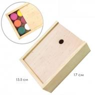 Пенал для гуаши деревянный 17*13,3*5,3 см ROSA