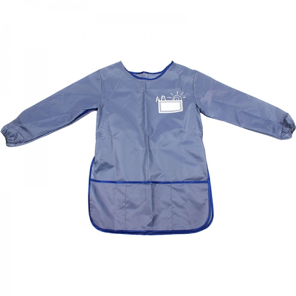 Фартук со спиной для детского творчества Economix серый