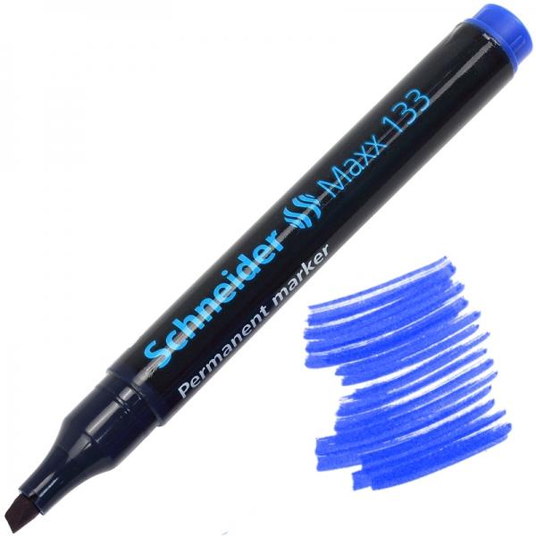 Маркер перманентный SCHNEIDER MAXX 133 1-3 мм синий