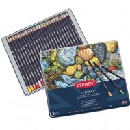 Набор цветных карандашей Studio, 24 цв., в металлическом кейсе Derwent