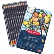 Набор цветных карандашей Studio 12 цв., в металлическом кейсе Derwent