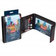 Набор цветных карандашей Procolour Wallet в пенале, (10 Procolour, 2 Graphic, Blender + аксессуары)