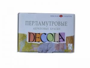 Набор акриловых красок для декора, перламутровый, 6*20мл, Deсola