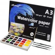 Набор профессиональный для акварельной живописи Monet (52755set)
