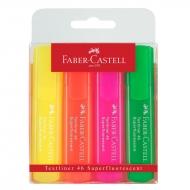 Маркеры Faber-CastellTextliner 46 Superflourescent разноцветные 4 шт